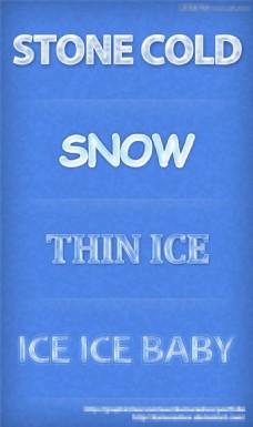 冬季冰冻效果艺术字样式
