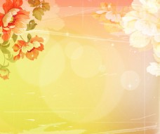 花卉光照背景墙
