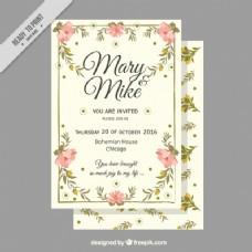 复古风格的婚礼卡片