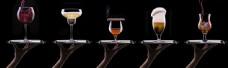 各种形状的酒杯图片