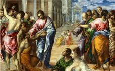油画犹太人物装饰画