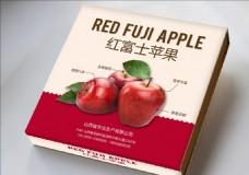 红富士苹果包装设计平面效果图