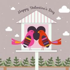 情人节快乐小鸟海报