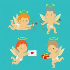 情人节快乐卡通天使