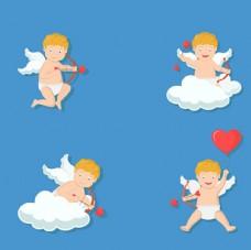 卡通情人节丘比特天使
