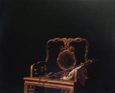 油画古老的椅子图片