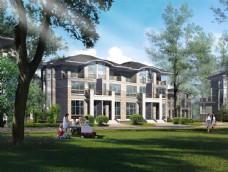 别墅建筑设计透视图片