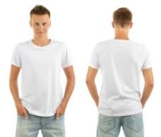 穿白色T恤的帅哥图片