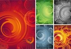 抽象漩涡背景集