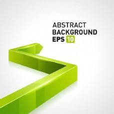 绿色3D箭头业务背景