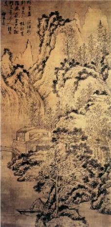 雪景山水图装饰画
