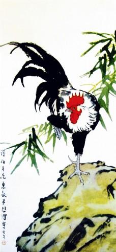 金鸡独立装饰画