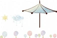 棒棒糖 云彩 遮阳伞