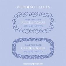 手绘装饰婚礼相框