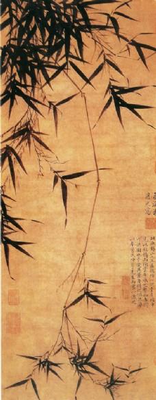 国画竹子名画图片