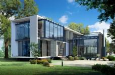别墅建筑设计效果图片