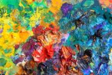 彩色颜料背景图片