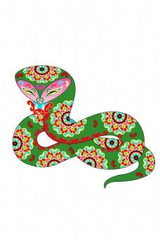 青色的卡通蛇图片