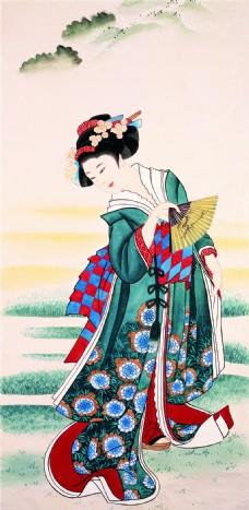 日本女人装饰画