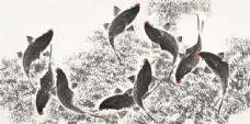 国画黑鱼图片