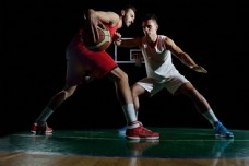 篮球比赛摄影图片
