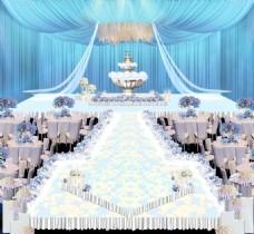 蓝色婚礼效果图