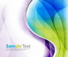 彩色线和螺旋线背景