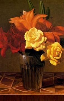 鲜花装饰画图片