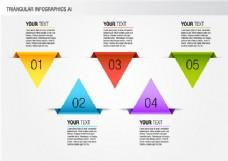 彩色三角信息图形包