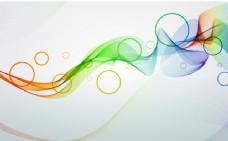 彩色烟雾螺旋线和圆圈