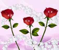 玫瑰花卉素材装饰