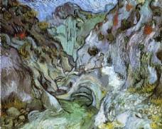 抽象油画风景写生图片