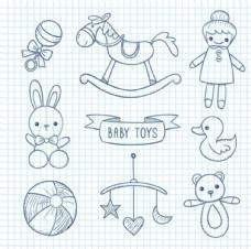 简笔母婴儿童宝宝元素