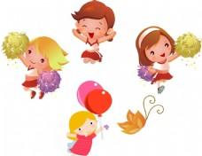 卡通儿童 蝴蝶