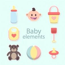 丰富多彩的婴儿元素