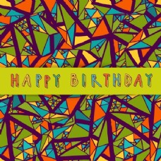 手绘背景几何元素生日