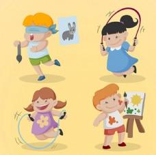 儿童节快乐活动中的孩子