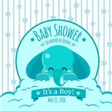 母婴儿童宝宝大象派对海报