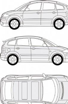 汽车线条图