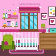卡通母婴儿童宝宝房间