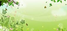 春意盎然 绿色海报素材