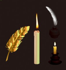 羽毛 蜡烛
