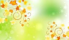 清新欧式枫叶背景墙