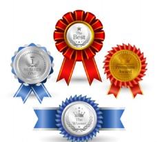 4款精美徽章设计矢量素材