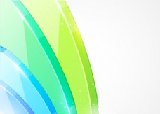 黄绿蓝色块曲线玻璃质感背景