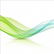 绿色流动透明柔和线条