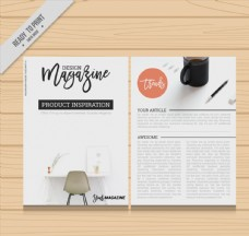 创意设计类杂志内页设计矢量素材