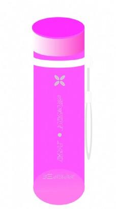 粉色可爱水杯