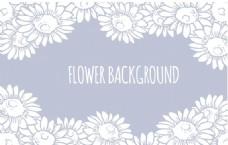 淡雅春季花卉背景