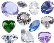 水晶鉆石心形圓形寶石